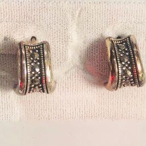 NWT Nordstrom sterling marcasite earrings